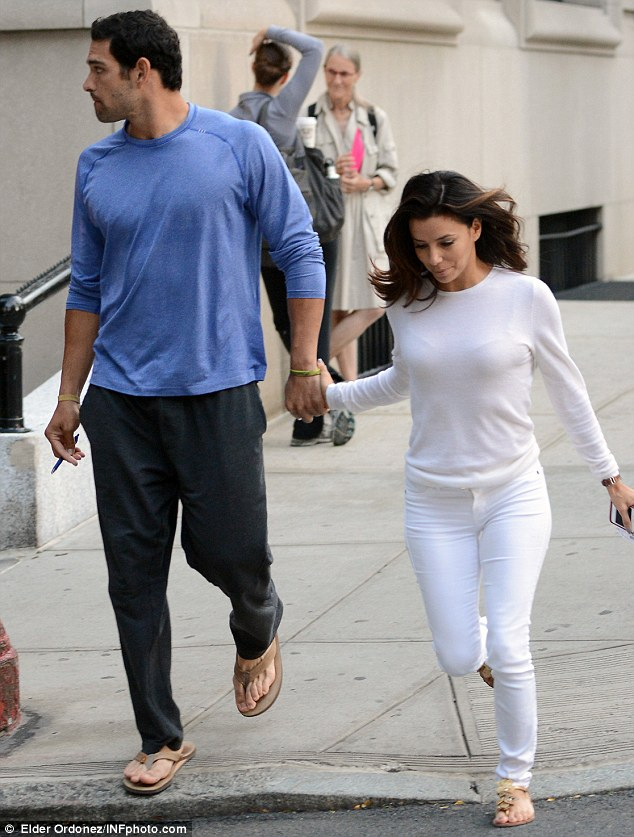 Not expecting: Eva, who is dating New York Jets quarterback Mark Sanchez ¿ was forced to deny she was pregnant earlier this week