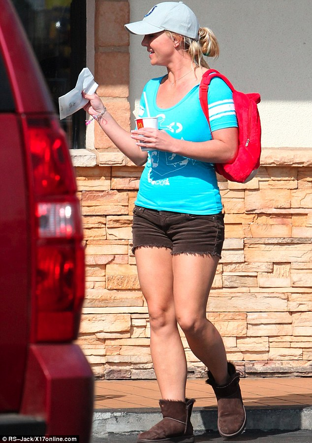 American abroad: Britney wouldn't look amiss asking for directions to the Coliseum in Rome wearing this outfit