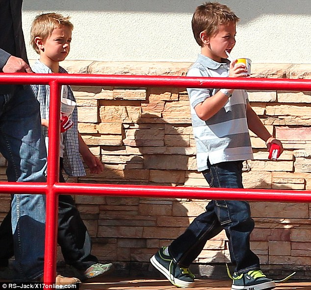 Little men: Sean and Jayden are growing up fast