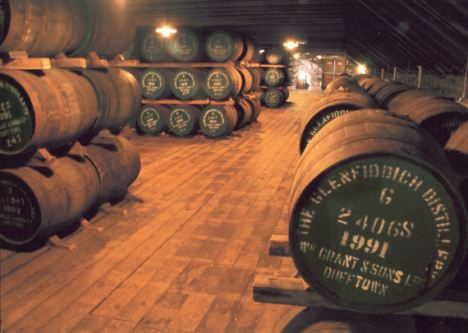 Many whisky casks are imported from Spain where they are treated with sulphur candles which provide an anti-bacterial coating