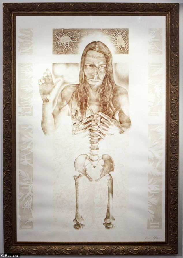 Oxidised: Castiglia's macabre paintings can fetch up to $26,000 a time. Pictured, Stings of the Lash (2005)