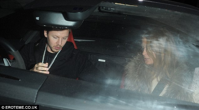 Driving Miss Millie: Professor Green took the wheel as the pair called it a night after their evening out