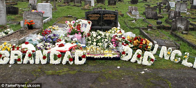 Funeral: The tributes left at the graveside following the burial of Charlie Richardson