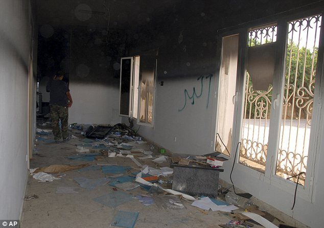 Aftermath: The U.S. consulate in Benghazi the day after last month's deadly assault