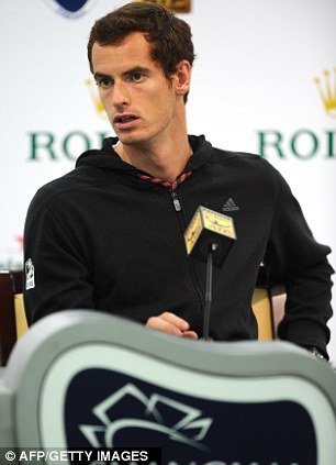Centre of attention: Murray is competing at the Shanghai Masters this week