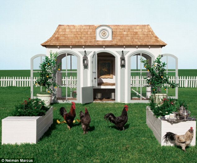 A house fit for a... chicken? A $10,000 hen coop inspired by Versailles is just one of the nine extraordinary 'fantasy gifts' on offer in the new Neiman Marcus Christmas Book