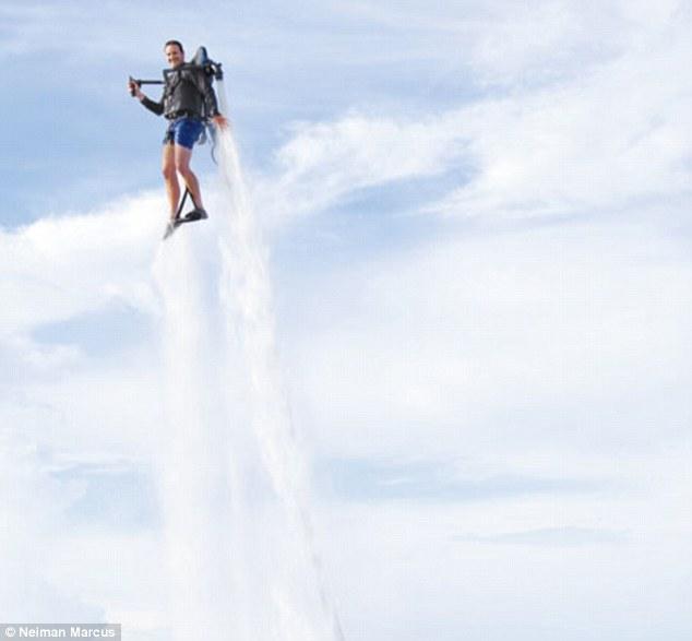 Flight of fantasy: High-fliers might enjoy a $99,500 water-propelled jetpack