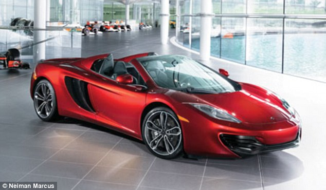 Nice wheels: There is also a red special edition McLaren 12C Spider for $354,000