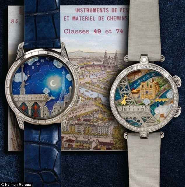 Good timing? The priciest gift this year is a pair of 'his and hers' timepieces for $1million from Van Cleef & Arpels