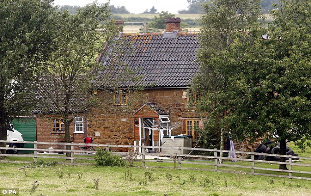 No sympathy: Judge Michael Pert QC spoke out after a lawyer for one of the men who broke into the Ferries' remote farmhouse, pictured, asked for leniency