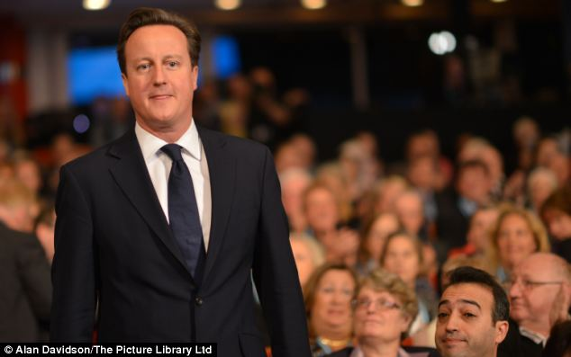 Making a point: David Cameron said he believed intruders gave up their rights when they entered another person's home