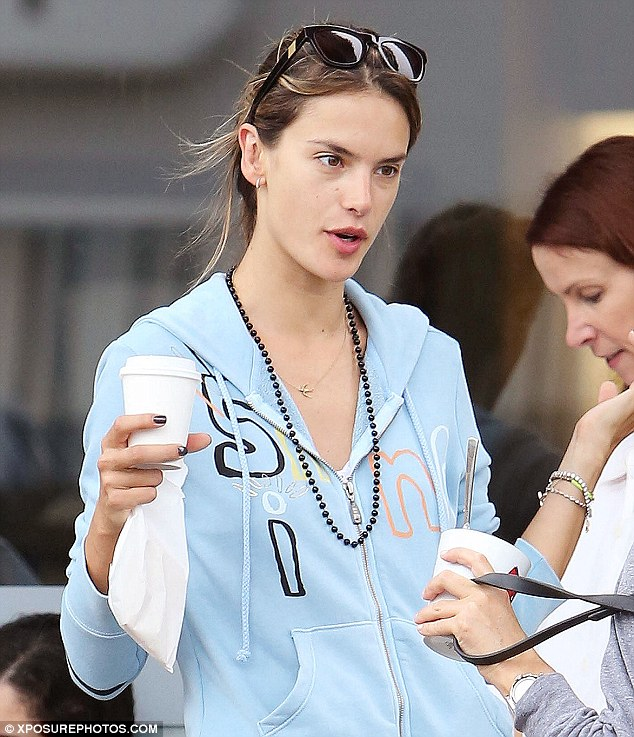 Bonding : Alessandra bonds with locals at Cafe Luxx in Brentwood