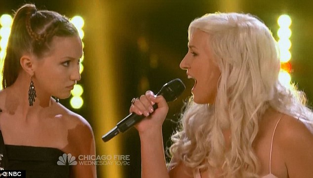 Brunette vs blonde: But Gracia beat the platinum duo