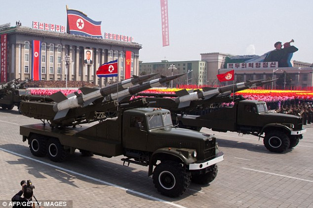 Warning: North Korea, which displayed an array of missiles during a military parade in honour of the 100th birthday of the late North Korean leader Kim Il-Sung in Pyongyang, claims it has missiles capable of reaching mainland America