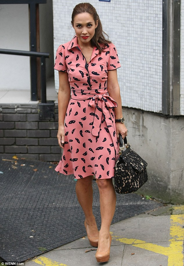 Myleene Klass, pictured here last week, was inspired by Lily Allen to go on her own Twitter rant regarding single mothers