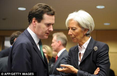 George Osborne and IMF Managing Director Christine Lagarde