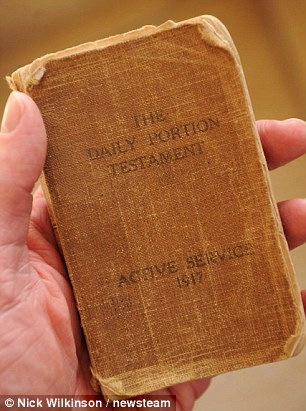 This Bible belonged to Pte George Ford, who died aged 20 during the Battle of the Somme in 1918