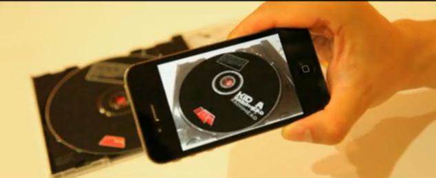 Radiohead's Kid A can be controlled via the app, with the user scratching the screen to control playback.