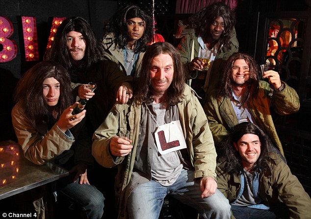 Cheers: The original Frank Gallagher surrounded by look-alikes
