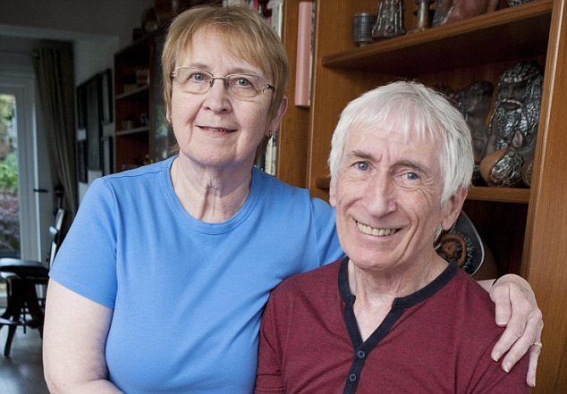 Case study below: John Benfield, pictured with his wife Jenny, was at first refused an enhanced pension despite having a lung disease