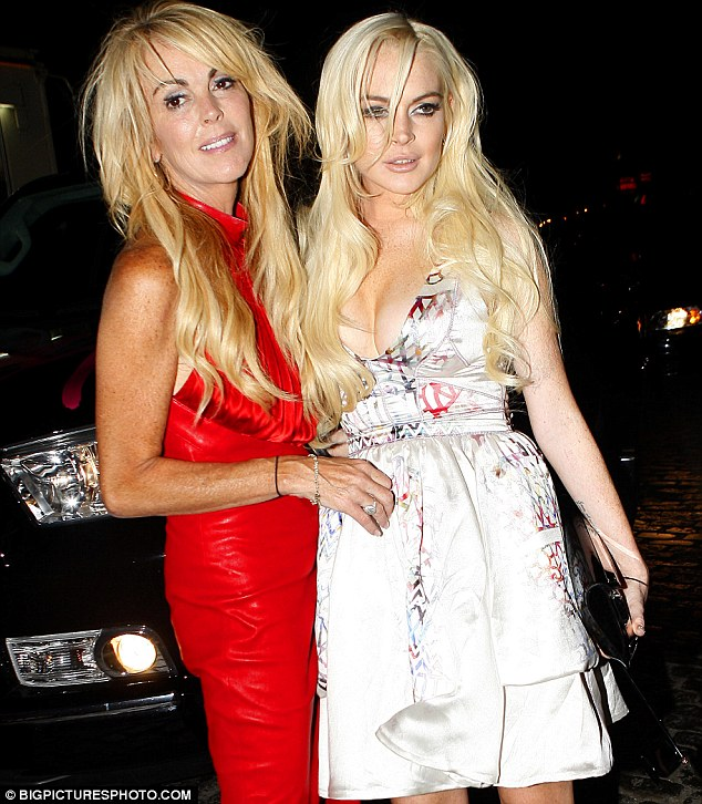 Ups and downs: Lindsay and Dina Lohan, pictured together last year, fight like many other mothers and daughters, the actress reasoned