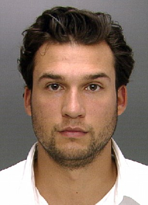 Arrested: Matthew Sofka, 26, was charged with aggravated assault and other counts in connection with a brawl that broke out among two wedding receptions