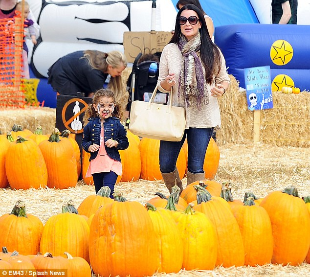 Halloween preparation: Kyle Richards and daughter Portia Umansky were spotted at Mr Bones pumpkin patch in West Hollywood on Wednesday