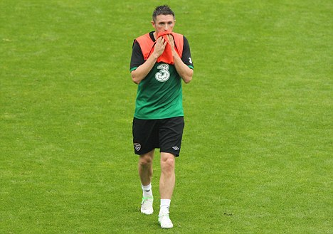 Major doubt: Keane could miss Ireland's showdown with Germany