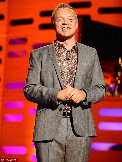 No plans: Graham Norton isn't in a rush to wed his Canadian boyfriend Trevor Patterson