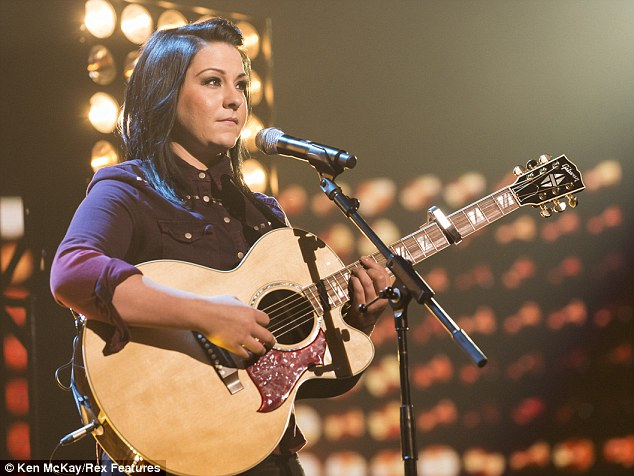 Sad times: Lucy Spraggan had to pull out of a rehearsal on Monday after finding out that her grandmother had died