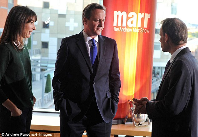 On Sunday David Cameron tweeted: 'About to appear on @MarrShow: I'll be explaining how we're on the side of people who want to get on in life.'
