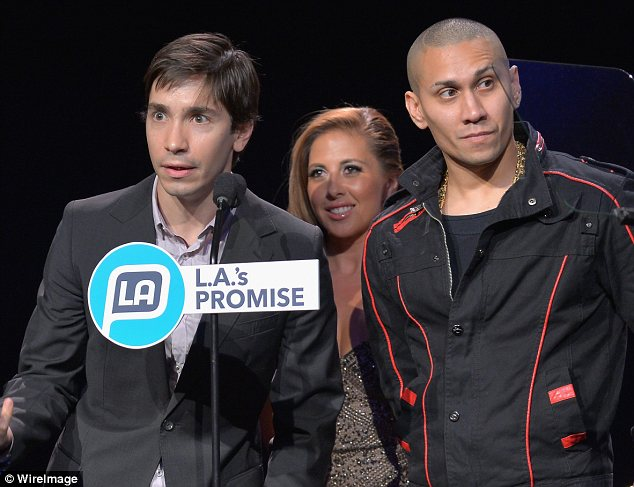 Famous faces: Justin Long, Chiqui Baby and musician Taboo took to the stage too