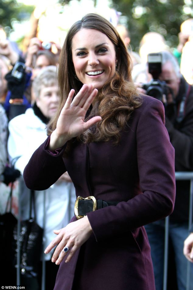 Solo: The Duchess of Cambridge attended an event at Newcastle Civic Centre today without her husband Prince William, who attended former nanny Olga Powell's funeral service in Essex
