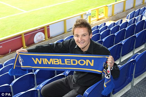 Here again: Ardley was unveiled as the new AFC Wimbledon manager on Wednesday