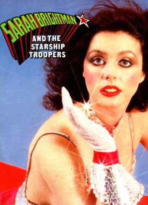 Big hit: Sarah Brightman's debut single was called 'I Lost My Heart To A Starship Trooper'
