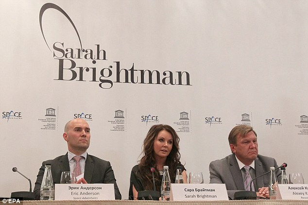 Press conference: Sarah Brightman said it was a lifelong dream to visit the International Space Station