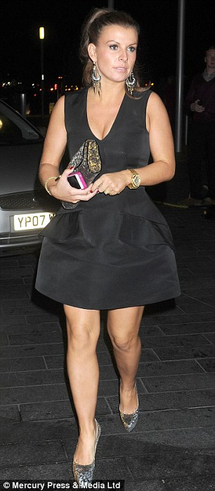 Disguising?: Coleen wore a structured dress on a night out in Liverpool with friends two weeks ago