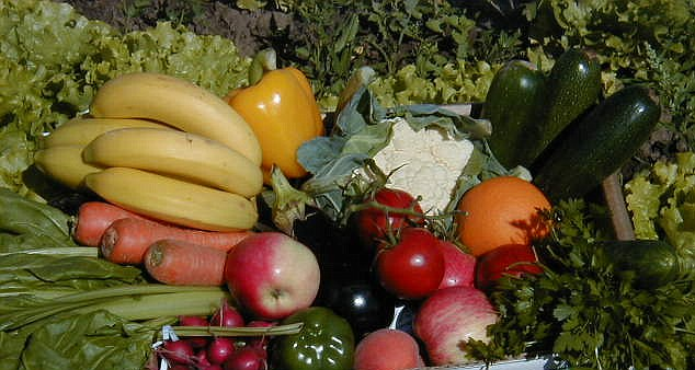 Expensive: Fruit and veg prices have doubled in the past year after the wet summer ruined crops