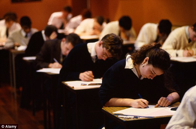 Sitting tests: Exams watchdog Ofqual announced it was conducting a major review of the quality of marking amid concern that thousands of pupils are being awarded the wrong grades (file picture)