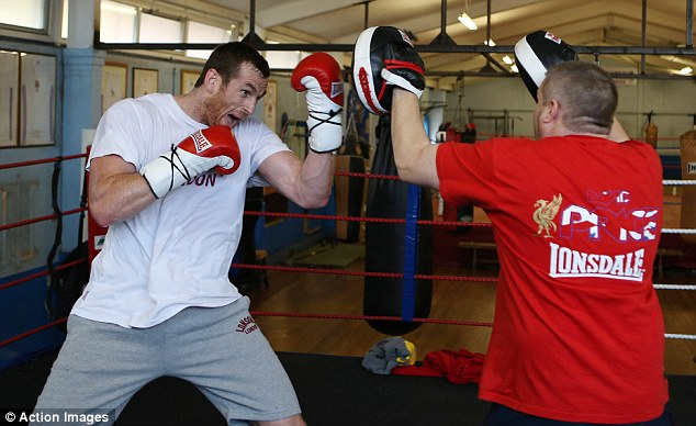 Gearing up: Price training in the Salisbury Amateur Boxing Club