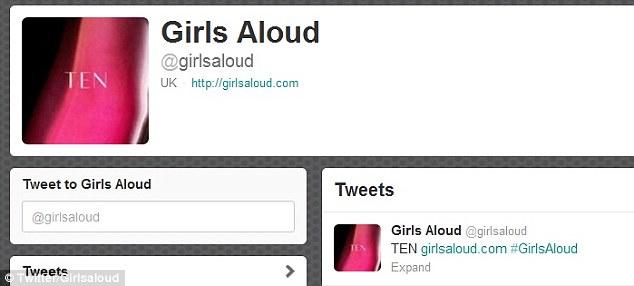 Girls Aloud reuniting Twitter countdown