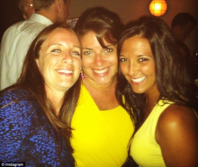Bachelorette: Nicole Sannuti, right, and seven friends flew to Florida last month for a party which one of them described as 'one big scene from The Hangover'