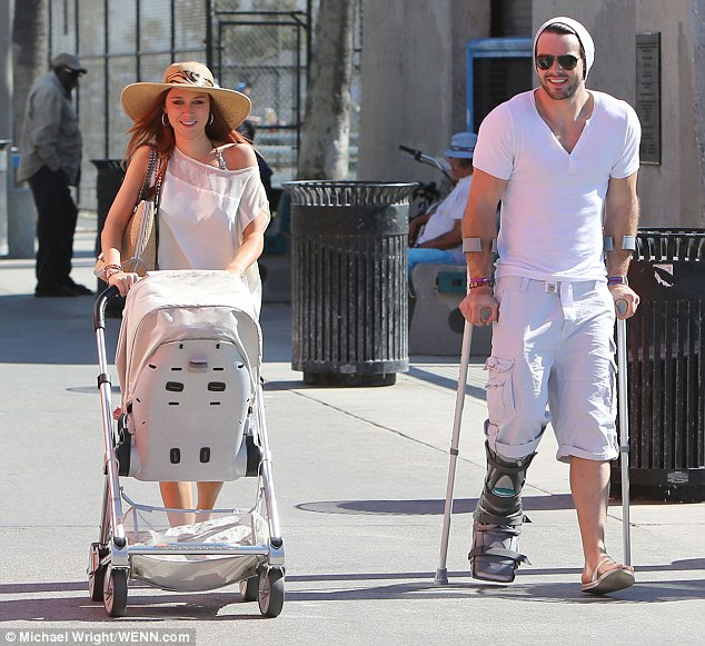 Una Healy and Ben Foden  head to the Sidewalk Cafe in Venice Beach, on Una's 31st Birthday.