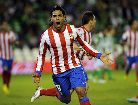 Hot-shot: Falcao has been valued at £48million by Atletico Madrid