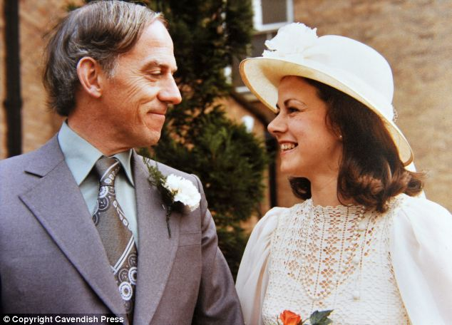 Mr Fleming and his wife Marjorie, now 70, getting married in 1976