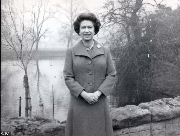 Queen Elizabeth chose the Buckingham Palace garden for the recording of her Christmas broadcast message in 1975 - the first time she recorded it out of doors