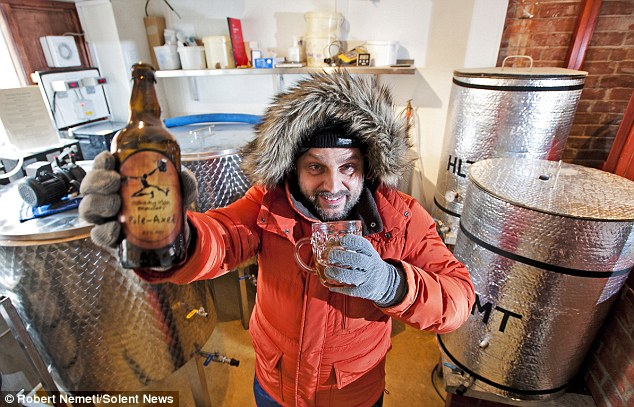 Problem solved: Brewer Rob Brown ans his colleagues have invented a special beer that can withstand the coldest place on Earth - the South Pole
