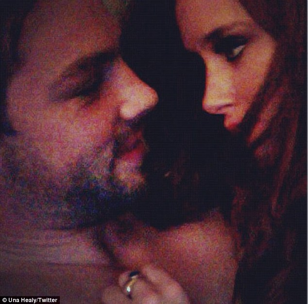 Una tweeted this picture of her and husband Ben Foden