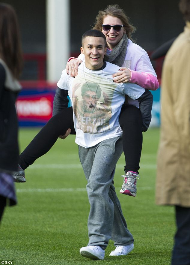 Friends: Jahmene and Ella seemed to enjoy hanging out with each other on Soccer AM
