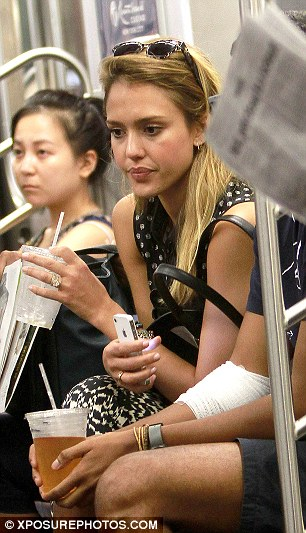 See, I'm normal! Jessica Alba took the subway in September